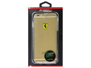 FERRARI SHOCKPROOF - Hard Case - Racing Shield - Transparent - Black FEGLHCP7LBK