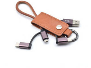 Keycase Cable 3in1 Brown KC3IN1-BR